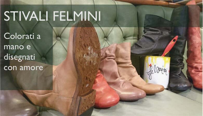 Felmini: stivali colorati a mano
