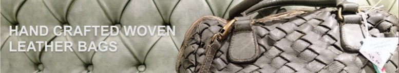 Hand crafted woven leather bags